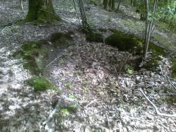 trou individuel, crête militaire;tranchées 10 m derrière