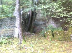 reste du mur du fond-entrée