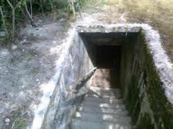 escalier vers les soutes-danger